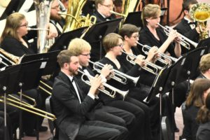 The MC Symphonic Band will perform its Spring Concert in Peoples Bank Theatre on April 19. Photo courtesy of Marietta College.
