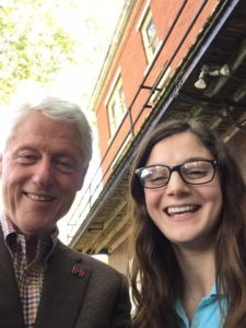 Sam Welch pictured here with Bill Clinton. Photo courtesy of Sam Welch.