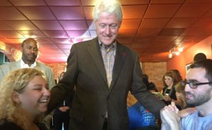 Emily Vigue and Paul Bieniek pictured here with Bill Clinton. Photo provided by Emily Vigue.