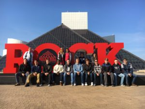 Professor Smith's FYS Class at the Rock and Roll Hall of Fame in Cleveland, OH.